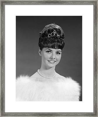 Woman Extravagantly Dressed, 1960s Framed Print