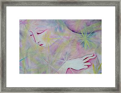 Woman Face Detail Framed Print