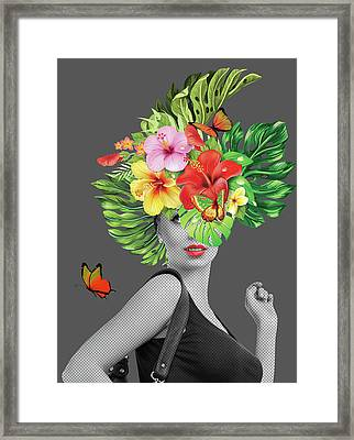 Woman Floral  Framed Print