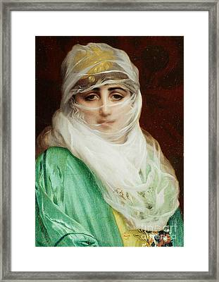 Woman From Constantinople Framed Print by Jean Leon Gerome