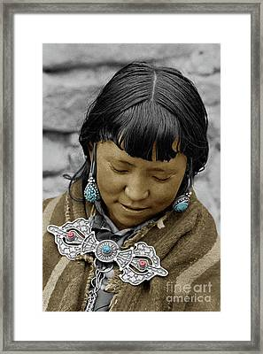 Woman From Dolpo - Do Tarap Valley, Nepal Framed Print by Craig Lovell