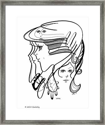 Woman Framed Print by Gautschy