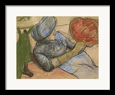 Mending Drawings Framed Prints