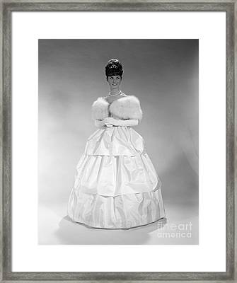 Woman In Ball Gown, C. 1960s Framed Print