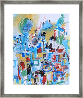 Woman In Blue Framed Print by Michael Henderson