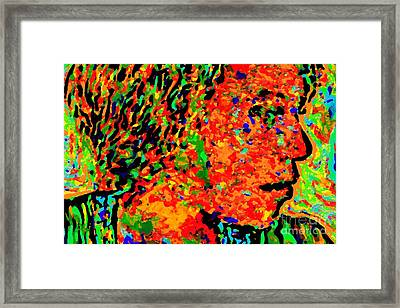 Woman In Doubt V Framed Print by Loko Suederdiek