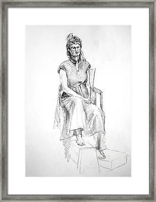 Woman In Dress Framed Print