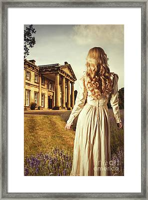 Woman In Edwardian Dress Framed Print