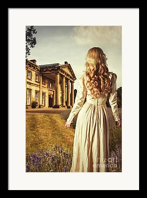Flowing Blonde Hair Framed Prints
