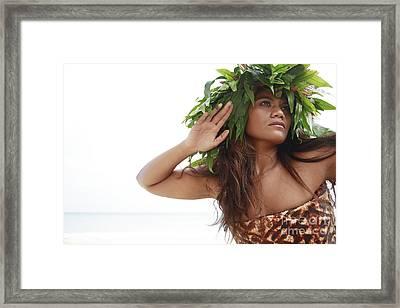 Woman In Fern Haku Framed Print by Brandon Tabiolo - Printscapes