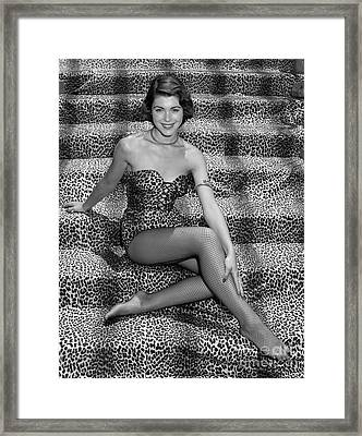 Woman In Leopard Skin Suit, C.1950s Framed Print by H. Armstrong Roberts/ClassicStock