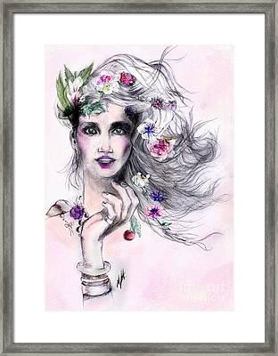 Woman In Love Framed Print by Maria Hakobyan