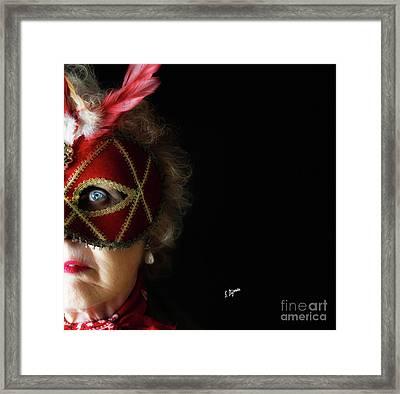 Woman In Mask  Framed Print by Steven Digman