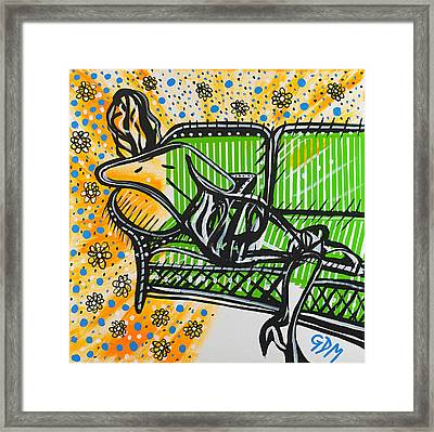 Woman In Repose Framed Print by Gdm
