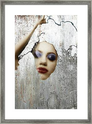 Woman In Steel Framed Print