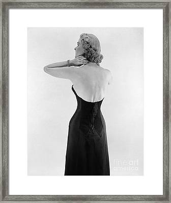 Woman In Strapless Dress, C.1950s Framed Print by Corry/ClassicStock