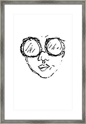 Woman In Sunglasses Framed Print