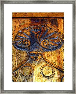 Woman In The Door Framed Print by Mexicolors Art Photography