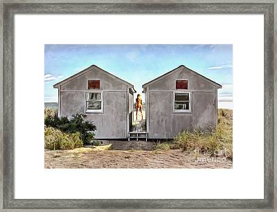 Woman In The Dunes Framed Print