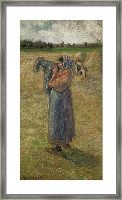 Woman In The Fields, Campesina Framed Print