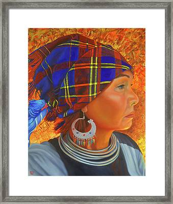 Woman In The Shadow Framed Print