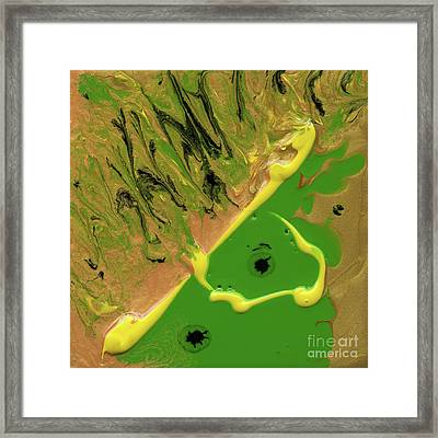 Woman In The Wind Framed Print