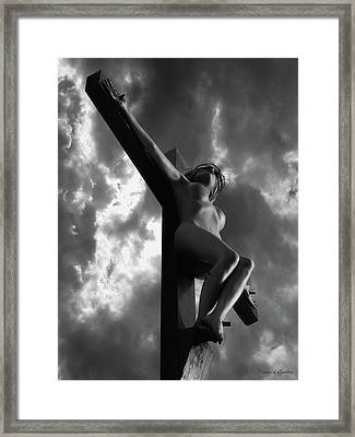 Woman Jesus Framed Print