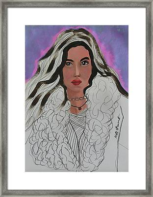 Woman Framed Print by Kate Farrant