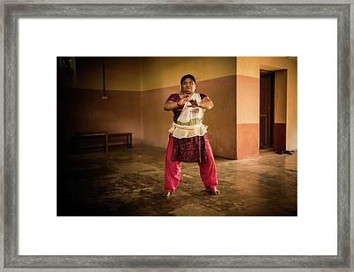 Woman Kathakali Framed Print