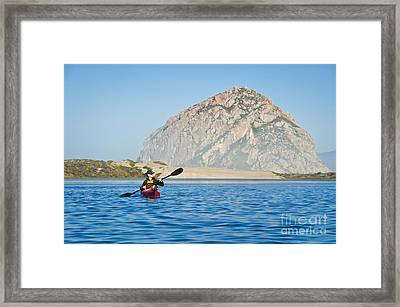 Woman Kayaking In Morro Bay Framed Print by Bill Brennan - Printscapes