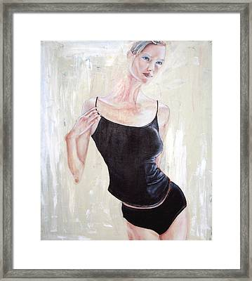 Framed Print featuring the painting Woman by Keith A Link