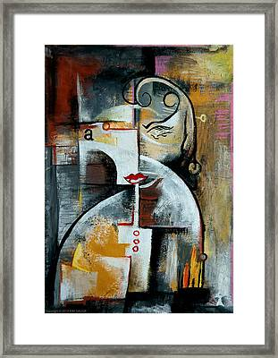 Framed Print featuring the painting Woman by Kim Gauge