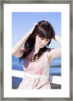 Woman Letting Her Hair Down Framed Print by Jorgo Photography - Wall Art Gallery