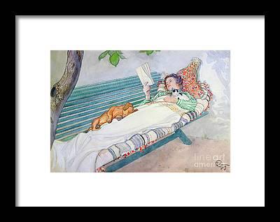 Watercolour Garden Framed Prints