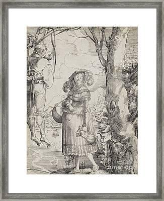 Woman Near Hanged Man, 1525 Framed Print