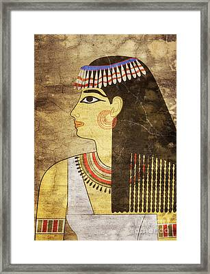 Woman Of Ancient Egypt Framed Print by Michal Boubin