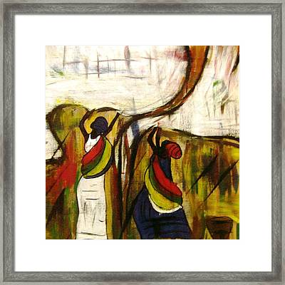 Woman Of Colors Framed Print by Glenda  Jones