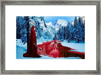 Woman Of Dark Desires Framed Print by John Paul Blanchette