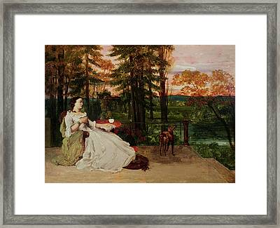 Woman Of Frankfurt Framed Print by Gustave Courbet