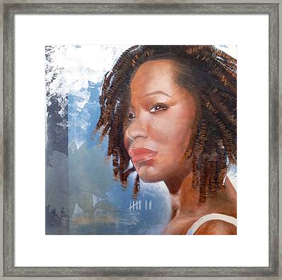 Framed Print featuring the painting Woman Of Magdala by Christopher Marion Thomas