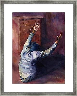 Woman Of Praise Framed Print by Lewis Bowman