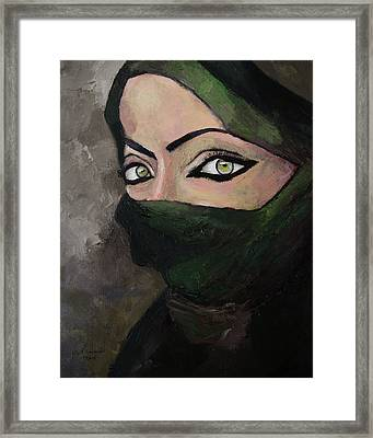 Woman Of The Gulf Framed Print by Mark Alexander