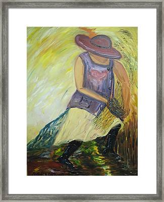 Woman Of Wheat Framed Print