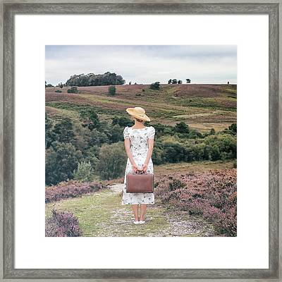 Woman On A Hill Framed Print