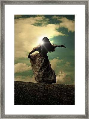 Woman On A Meadow Framed Print by Joana Kruse