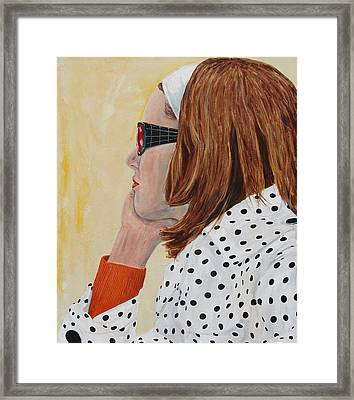 Framed Print featuring the painting Woman On The Boat by Kevin Callahan
