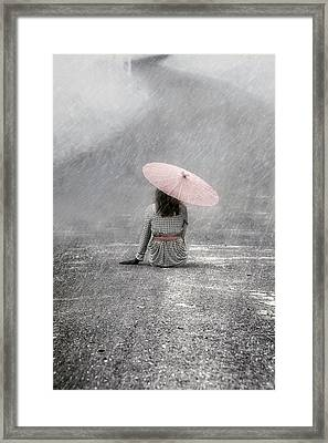 Woman On The Street Framed Print