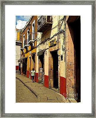 Woman On The Street Framed Print by Mexicolors Art Photography