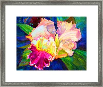 Woman Orchid Framed Print by Estela Robles