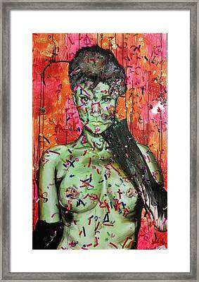 Woman Rat Framed Print